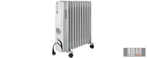 Home FKO-11/T Olajradiátor beépített ventilátoros fűtőtesttel, 11 tag, 2000W