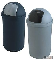 Belső műanyag hulladékgyűjtő, szemetes billenő fedéllel, henger alakú 45 l 3139-3140