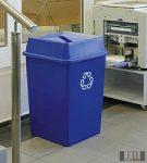 Szelektív, műanyag hulladéktároló edény, szemetes nagy urtartalommal 132 l 4333