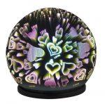 Rábalux 4551 Laila, színes, tükröződő dekorációs asztali lámpa, 2xAA