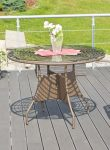 Royal Big rattan asztal, merbau