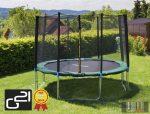 trambulin biztonsági hálóval 305 cm, zöld