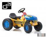 Classic lábbal hajtós traktor sárga / kék