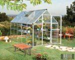 Palram Hybrid 6' x 10' Ezüst színű üvegház 310x185x209 cm