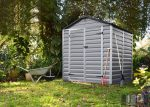 Palram SkyLight 6' x 5' Szürke színű kerti ház 153,5x185,3x217 cm