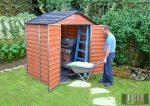 Palram SkyLight 6' x 5' Barna színű kerti ház 153,5x185,3x217 cm