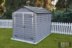 Palram SkyLight 6' x 10' Szürke színű kerti ház 305,5x185,3x217 cm