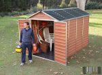Palram SkyLight 6' x 10' Barna színű kerti ház 305,5x185,3x217 cm