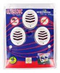 Weitech Ultrahangos kártevo riasztó 45m2, 3db/csomag /hálózatról muködik