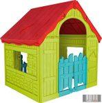 Curver FOLDABLE PLAY HOUSE (WONDERFOLD) Játszóház piros/világoszöld/világoskék színben CRV-228445