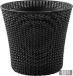 Curver CONIC PLANTER 56,5 literes virágtartó fekete színben CRV-231356