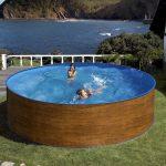 PONTAQUA ECO WOOD medence + létra + vízforgató