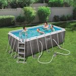 Bestway THASSOS szögletes fémvázas medence szett 412x201x122 cm FFA 654