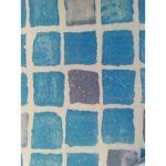 FOL 225 PVC fólia PONTAQUA, csúszásmentes,kékmozaik 1,65 m x 25 m, 41,25 m2 / tekercs