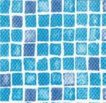 FOL 323 PVC fólia PONTAQUA, csúszásmentes kékmozaik 3D 1,65 m x 25 m, 41,25 m2 / tekercs