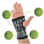 VivaFit GYVFMKFL Mágneses csukló- és kézfejszorító turmalinnal - L