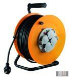 Home HJR-10-50 Kábeldob, fém talp, 4 földelt aljzat, 50m, IP44, 3x1,5nmm