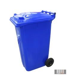 Külső hulladéktároló, szemetes kuka, kék színben, 240 literes, műanyag HUL-0005-1