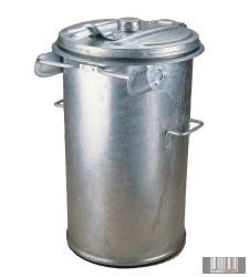 Tüzihorganyzott, fém hulladéktároló, kuka 90 l 1014
