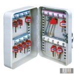 Kulcstároló szekrény 10 db-os falra szerelhető