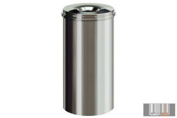 Beltéri, fém hulladékgyűjtő, szemetes önoltó rozsdamentes kivitelben 50 l 4305