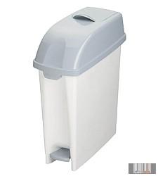 Beltéri Desy műanyag hulladéktároló, szemetes szuk kialakítással, lábpedálos, 4346