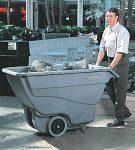 4537 Műanyag billenő szállítókocsi 0,4 köbméter