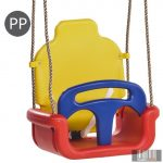 Átalakítható gyermekhinta 3 részes GROWING - 2,5m PP kötéllel (piros-sárga-kék)