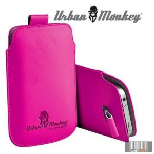 "Easypix Urban Monkey 53202 4""-4.3"" Pull Pouch, okostelefon tok (pink)"