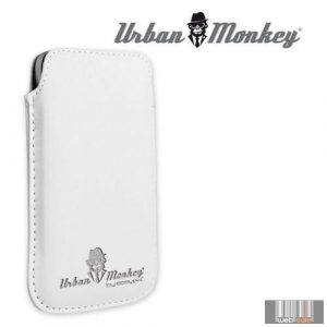 """Easypix Urban Monkey 53206 4""""-4.3"""" Pull Pouch, okostelefon tok (fehér)"""