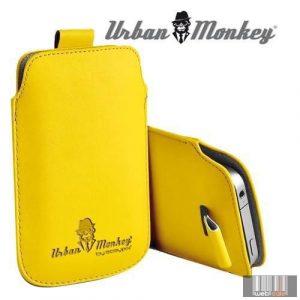 """Easypix Urban Monkey 53215 5"""" Pull Pouch, okostelefon tok (sárga)"""