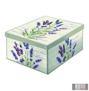 LAVATELLI 660LA COLLECTON LAVANDA PARFUMED levendula illatú, színes tárolódoboz (50x39x24 cm)