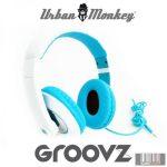 Easypix Urban Monkey GroovZ Blue fejhallgató (kék)
