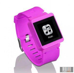 Lenco MP3 SPORTWATCH-100 PINK Bluetooth sportóra mp3 lejátszóval (pink)