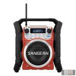 Sangean U-4 DBT RED DAB, FM-RDS, Bluetooth, Aux-in, strapabíró digitális rádió