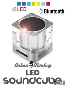 Easypix Urban Monkey LED Bluetooth SoundCube telefon kihangosító és hangszóró LED világítással