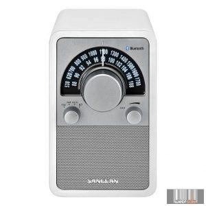 Sangean WR-15 BT WHITE FM / AM / Bluetooth fa dobozos asztali rádió (fehér)
