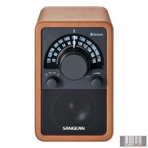 Sangean WR-15 BT BROWN LEATHER FM / AM / Bluetooth fa dobozos asztali rádió (barna bőr)