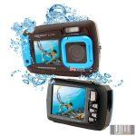 """Easypix W1400 """"Active"""" Blue vízálló digitális fényképezőgép 2 képernyővel (kék)"""