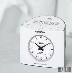 Sangean RCR-9W AM / FM-RDS sztereó digitális szintézeres ébresztősrádió (fehér)