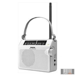 Sangean PR-D6 W Hordozható AM/FM táskarádió (fehér)