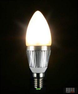 Techlight 3446 (73700) gyertya LED izzó 3W (E14)