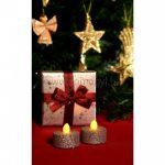 HOME LED-es teamécses szett, ezüst glitter CD-2-SX