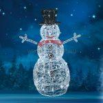 Akril hóember, kültéri, 80 WH/WW LED, 90 cm KDA-9