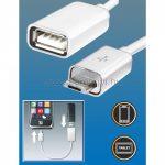 SAL OTG kábel, microUSB dugó-USB aljzat SA-044