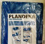 Professzionális, vízálló kék színű 5 x 8 méteres takaróponyva (50 gramm/négyzetméter)