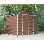 Palram 703760 Palram Skylight 8x8 barna kerti ház