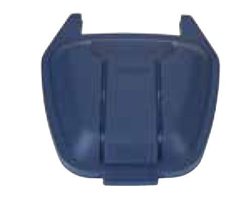 Image of 100 literes műanyag hulladéktároló fedél, kék 4418