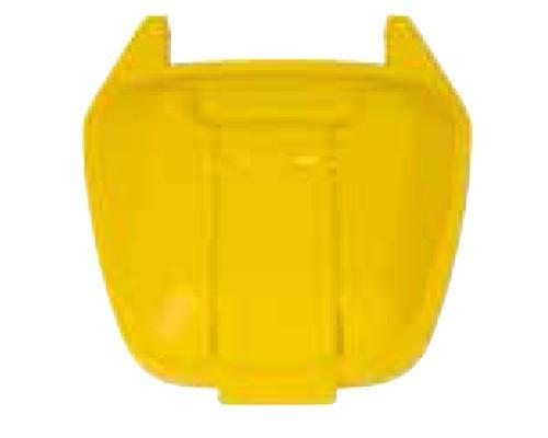 Image of 100 literes műanyag hulladéktároló fedél, sárga 4420